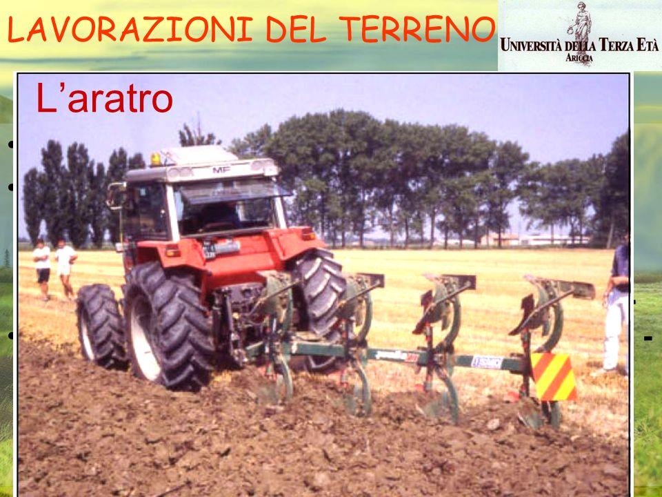 Il lavoro di aratura consiste nel tracciare solchi uno dopo l'altro, tagliando e rovesciando una fetta di terreno le cui dimensioni variano in funzion