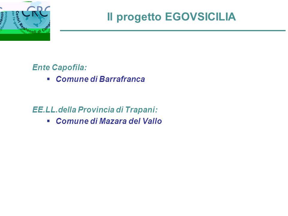 Il progetto EGOVSICILIA Ente Capofila: Comune di Barrafranca EE.LL.della Provincia di Trapani: Comune di Mazara del Vallo