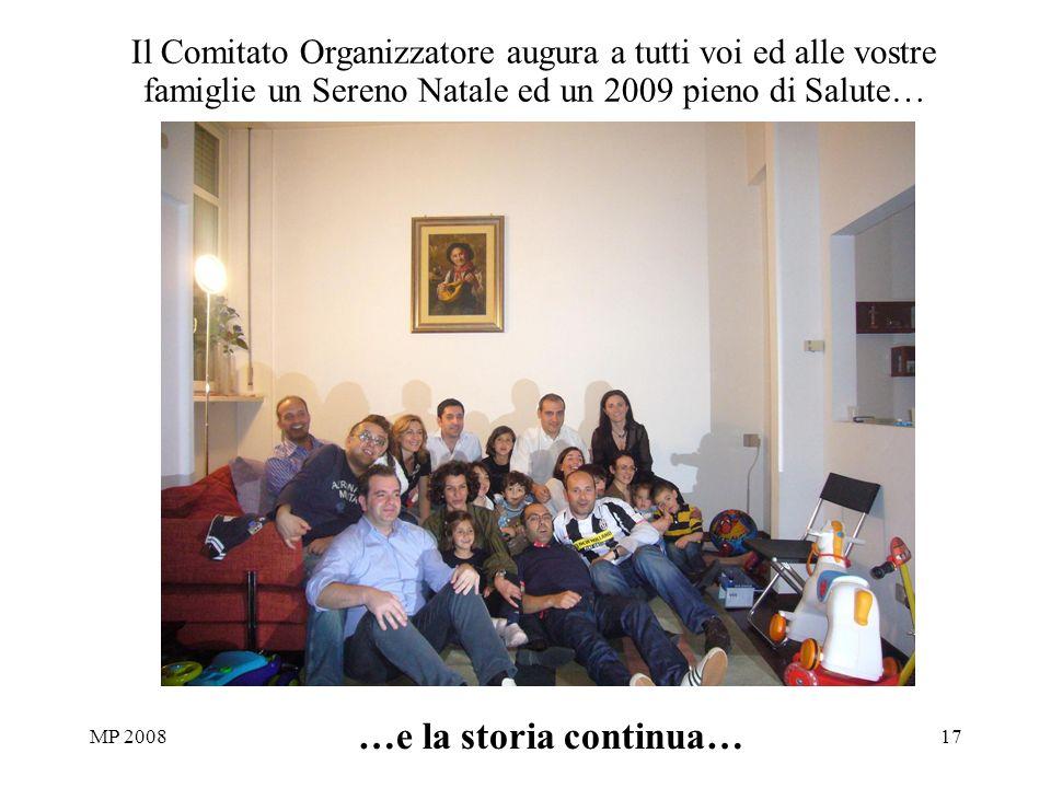 MP 200817 …e la storia continua… Il Comitato Organizzatore augura a tutti voi ed alle vostre famiglie un Sereno Natale ed un 2009 pieno di Salute…