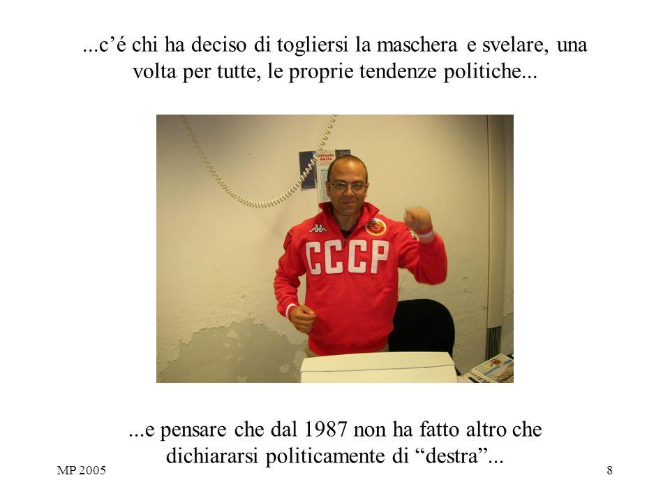 MP 20058...cé chi ha deciso di togliersi la maschera e svelare, una volta per tutte, le proprie tendenze politiche......e pensare che dal 1987 non ha