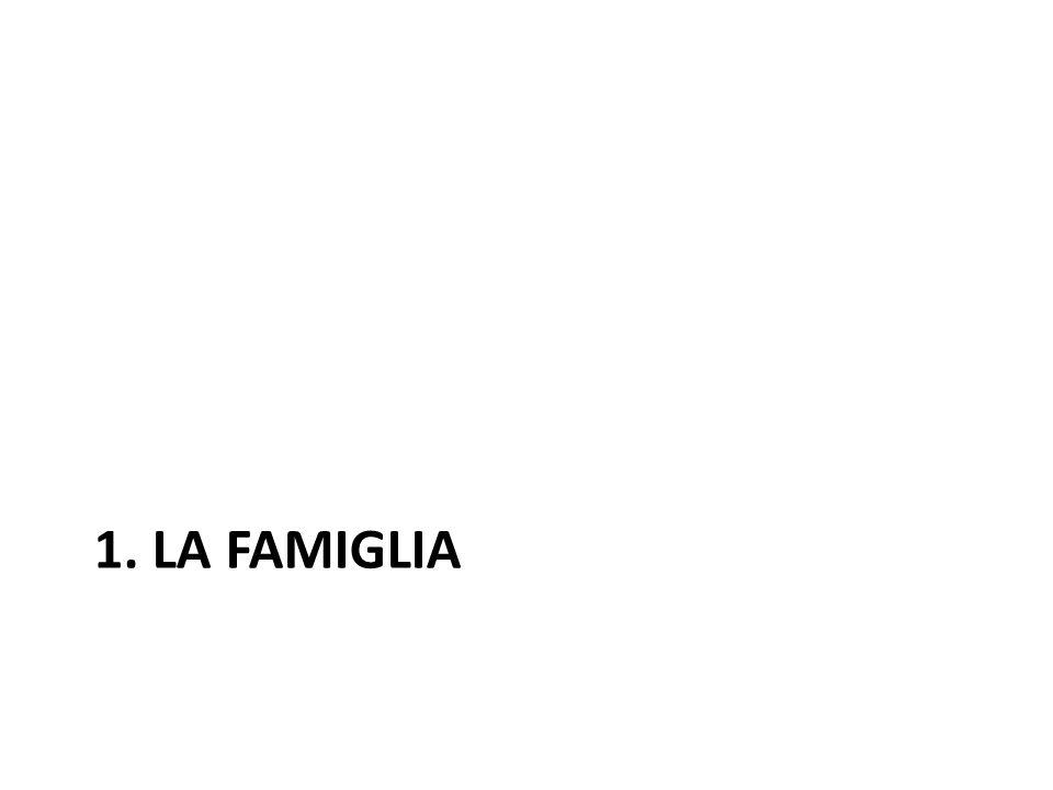 1. LA FAMIGLIA