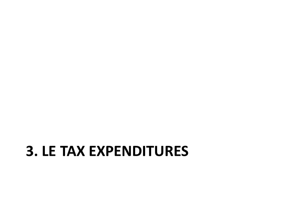 3. LE TAX EXPENDITURES