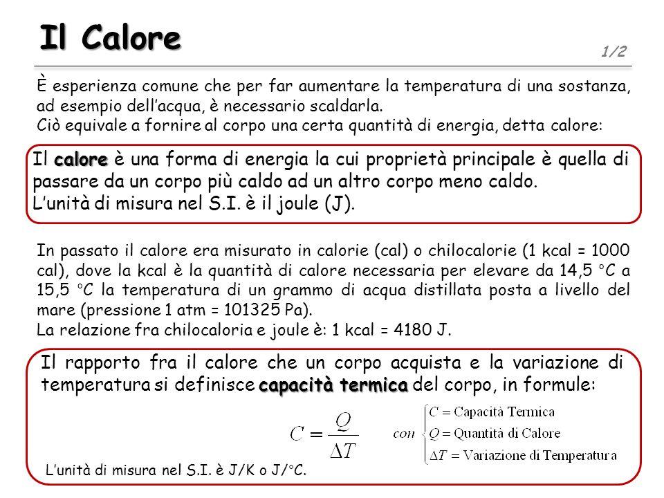 Il Calore È esperienza comune che per far aumentare la temperatura di una sostanza, ad esempio dellacqua, è necessario scaldarla. Ciò equivale a forni