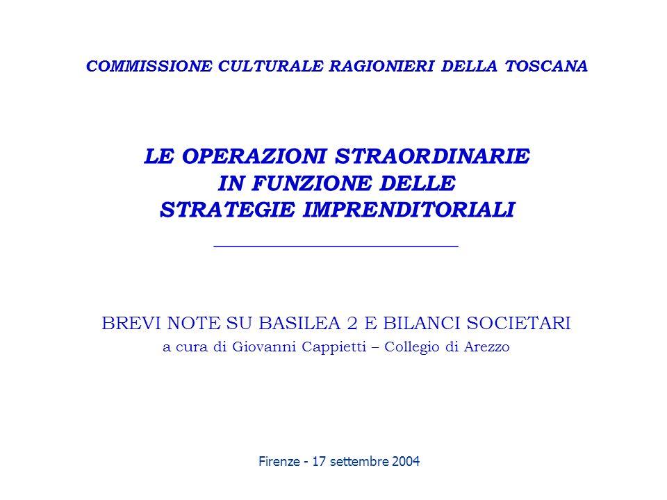 Firenze - 17 settembre 2004 COMMISSIONE CULTURALE RAGIONIERI DELLA TOSCANA LE OPERAZIONI STRAORDINARIE IN FUNZIONE DELLE STRATEGIE IMPRENDITORIALI ___