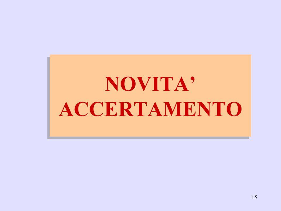15 NOVITA ACCERTAMENTO