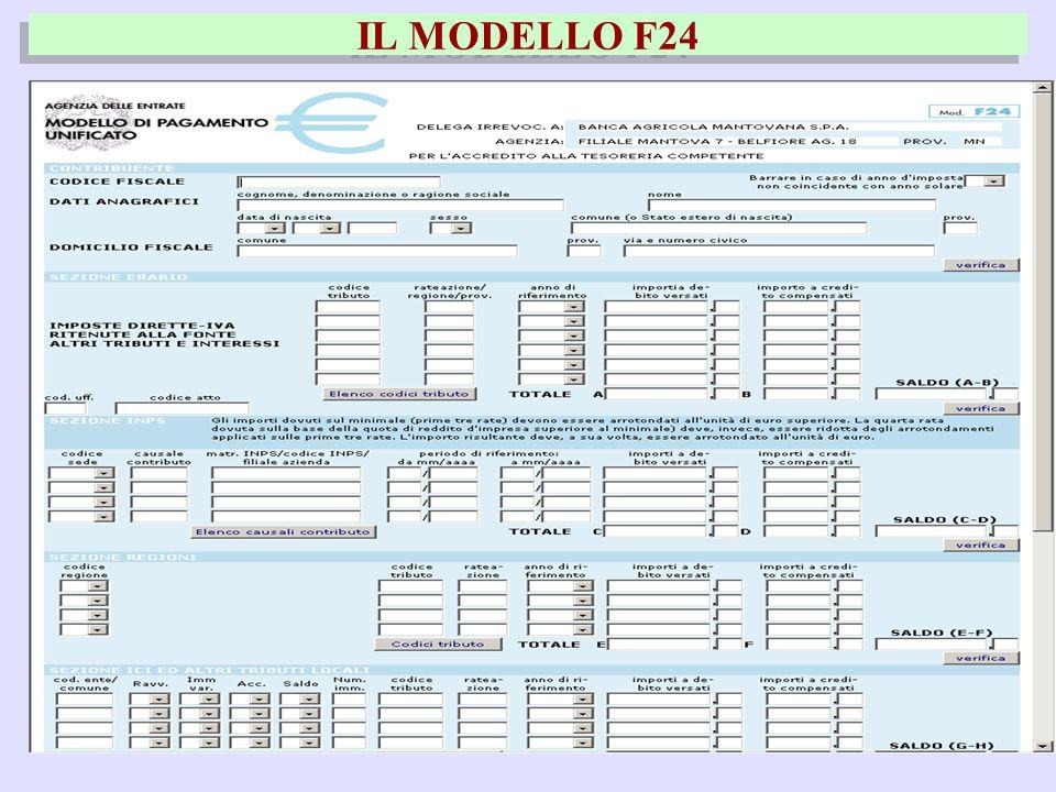 42 IL MODELLO F24
