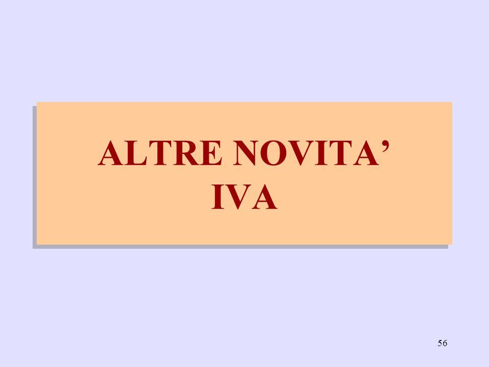 56 ALTRE NOVITA IVA