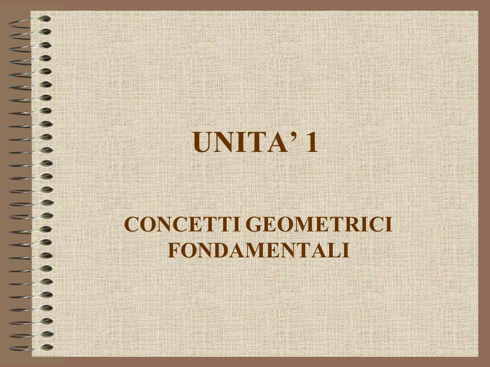 UNITA 1 CONCETTI GEOMETRICI FONDAMENTALI