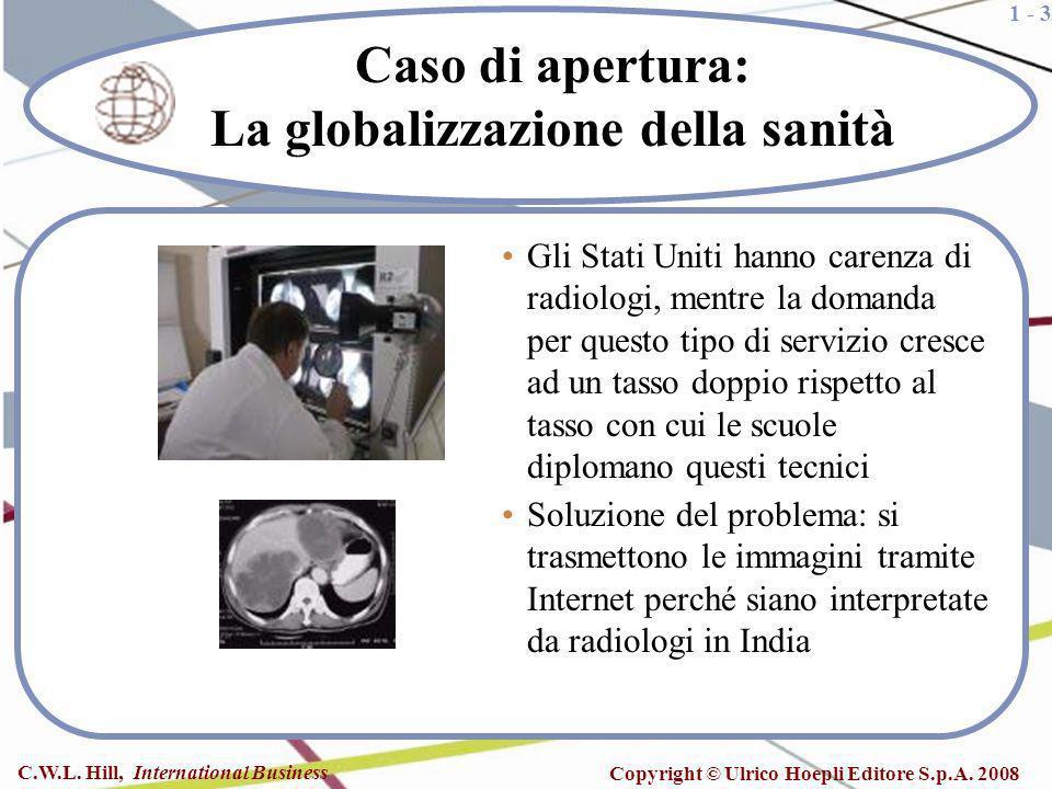 1 - 3 C.W.L. Hill, International Business Copyright © Ulrico Hoepli Editore S.p.A. 2008 Caso di apertura: La globalizzazione della sanità Gli Stati Un