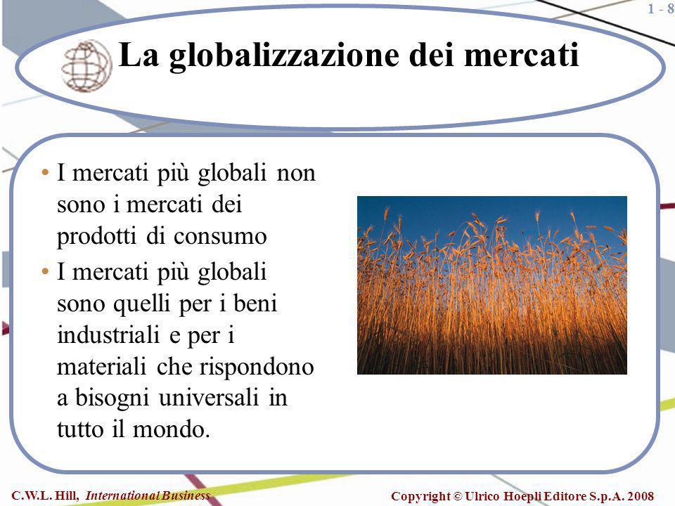 1 - 8 C.W.L. Hill, International Business Copyright © Ulrico Hoepli Editore S.p.A. 2008 I mercati più globali non sono i mercati dei prodotti di consu