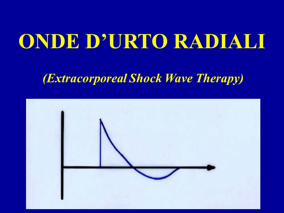 ONDE DURTO RADIALI (Extracorporeal Shock Wave Therapy)