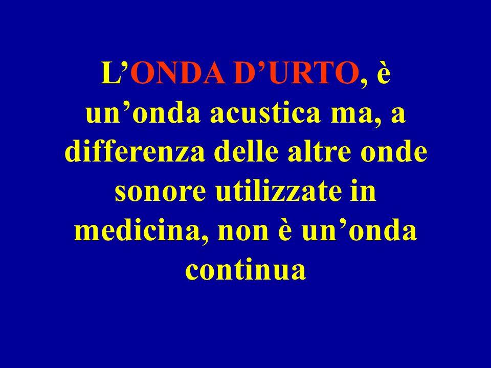 LONDA DURTO, è unonda acustica ma, a differenza delle altre onde sonore utilizzate in medicina, non è unonda continua