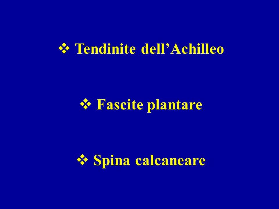 Tendinite dellAchilleo Fascite plantare Spina calcaneare