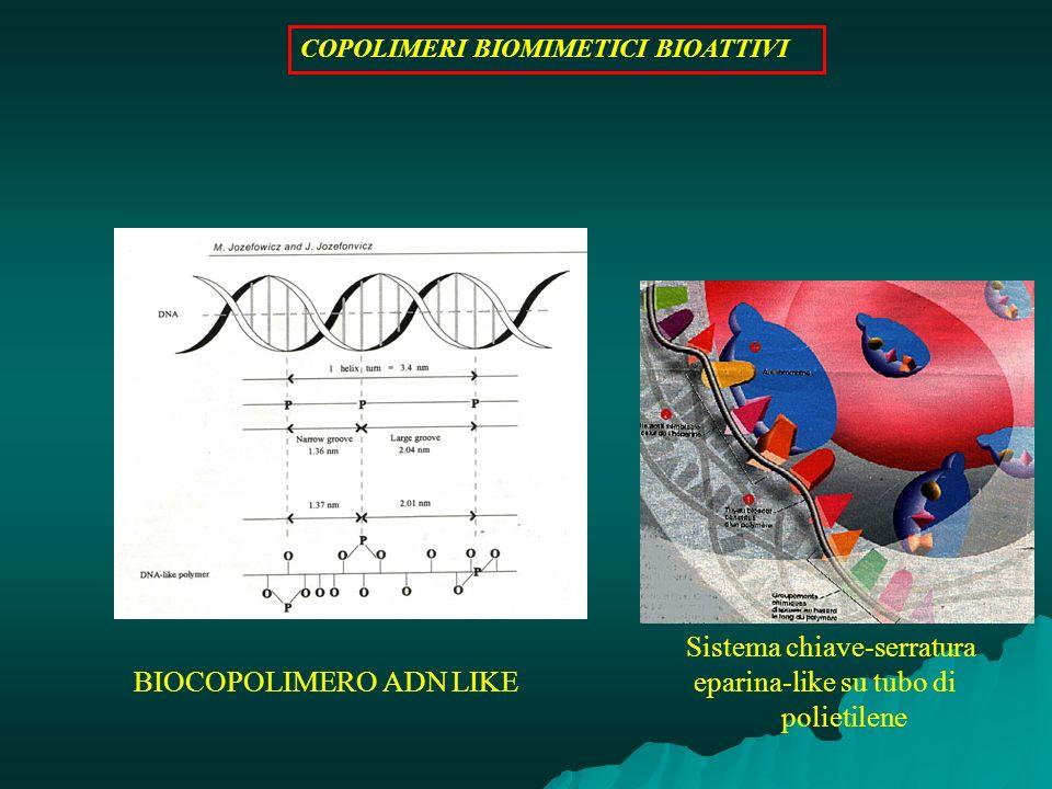 BIOCOPOLIMERO ADN LIKE Sistema chiave-serratura eparina-like su tubo di polietilene COPOLIMERI BIOMIMETICI BIOATTIVI