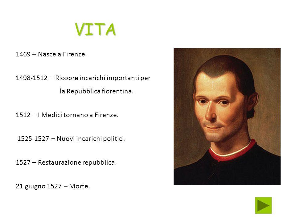 1469 – Nasce a Firenze. 1498-1512 – Ricopre incarichi importanti per la Repubblica fiorentina. 1512 – I Medici tornano a Firenze. 1525-1527 – Nuovi in