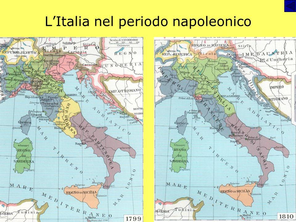 Leredità delletà napoleonica Emergere e diffondersi del sentimento di nazionalità (sia promosso dalle iniziative napoleoniche - Italia – sia come reaz