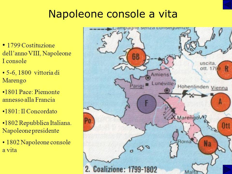 Dalla campagna dItalia al consolato 1796-97: prima campagna in Italia gennaio 1797 repubblica Cispadana estate 1797 repubblica Cisalpina. 4 settembre