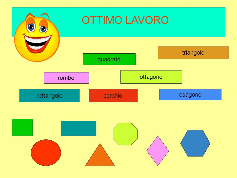 rombo quadrato ESAGONO ottagono rettangolocerchio triangolo TROVA LESAGONO CLICCA SUL NOME E POI SULLA FIGURA PIANA