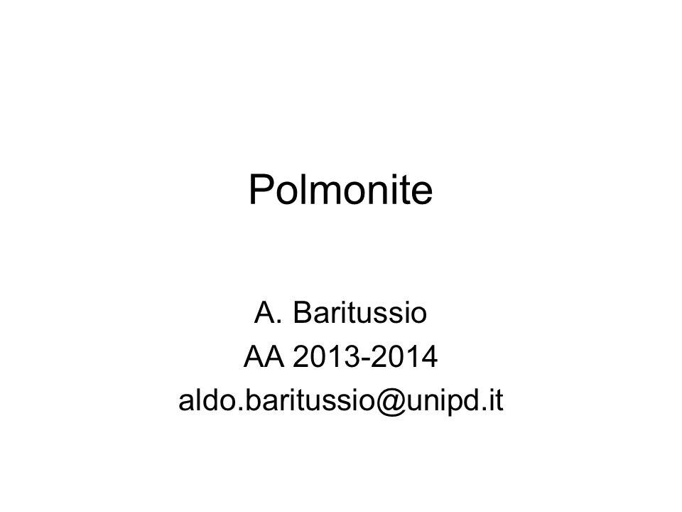 Polmonite A.Baritussio AA 2013-2014 aldo.baritussio@unipd.it
