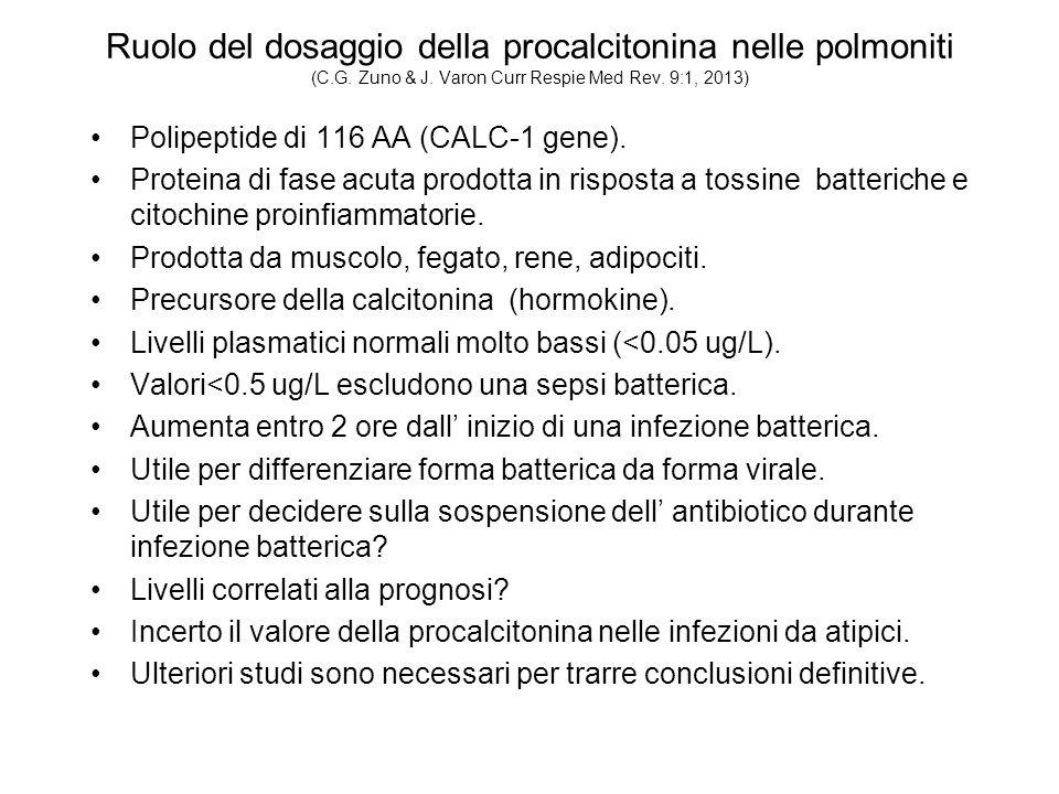 Ruolo del dosaggio della procalcitonina nelle polmoniti (C.G.