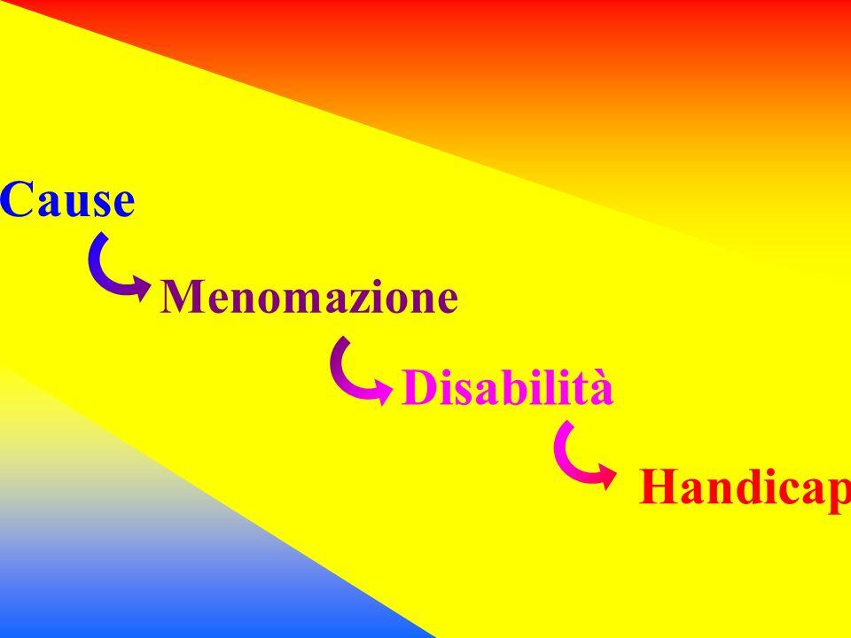 Cause Menomazione Disabilità Handicap