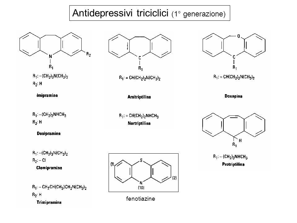 Antidepressivi triciclici (1° generazione) fenotiazine