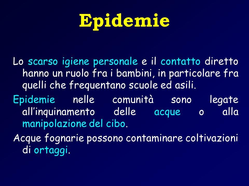 Epidemie Lo scarso igiene personale e il contatto diretto hanno un ruolo fra i bambini, in particolare fra quelli che frequentano scuole ed asili.