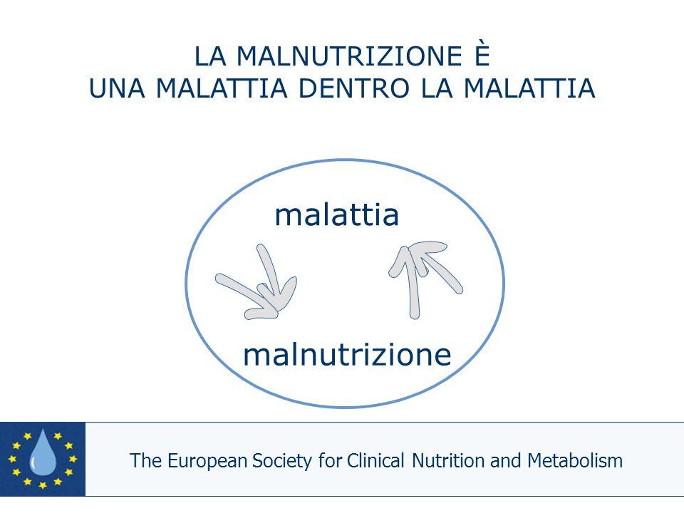 malnutrizione malattia LA MALNUTRIZIONE È UNA MALATTIA DENTRO LA MALATTIA The European Society for Clinical Nutrition and Metabolism