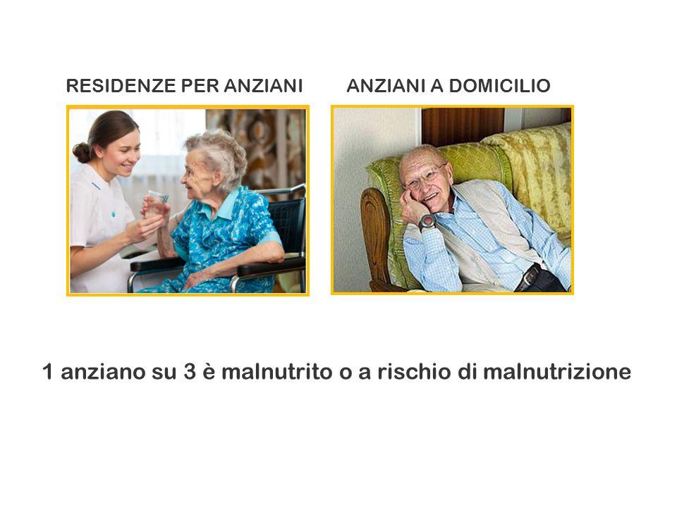 RESIDENZE PER ANZIANIANZIANI A DOMICILIO 1 anziano su 3 è malnutrito o a rischio di malnutrizione