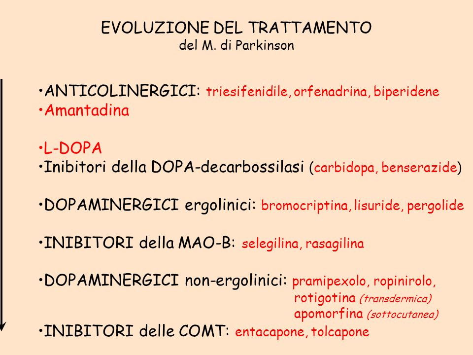 EVOLUZIONE DEL TRATTAMENTO del M.