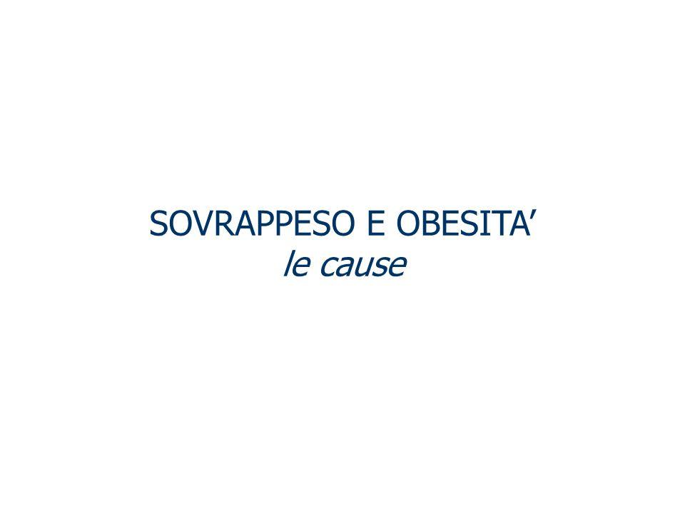 SOVRAPPESO E OBESITA le cause