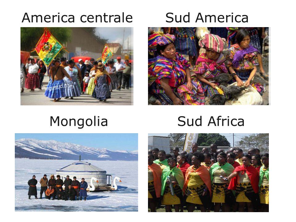 America centrale Sud America Mongolia Sud Africa