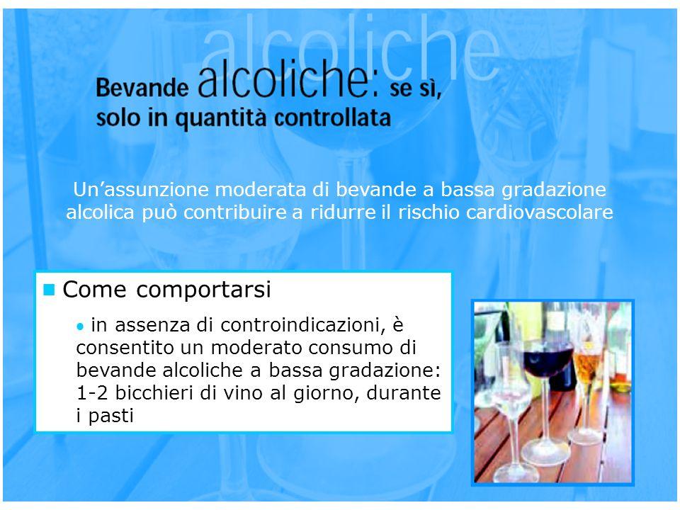 Come comportarsi in assenza di controindicazioni, è consentito un moderato consumo di bevande alcoliche a bassa gradazione: 1-2 bicchieri di vino al g