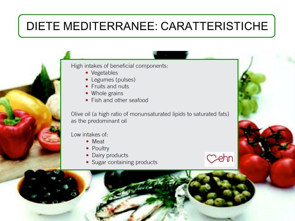 DIETE MEDITERRANEE: CARATTERISTICHE