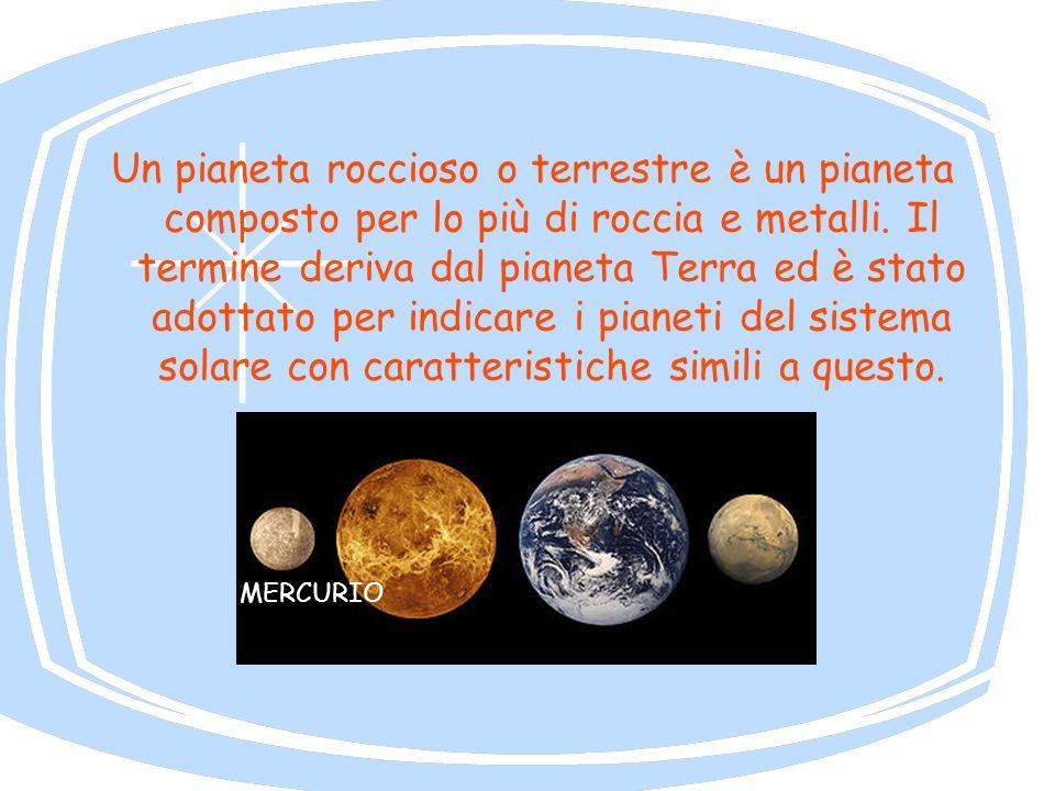 Un pianeta roccioso o terrestre è un pianeta composto per lo più di roccia e metalli. Il termine deriva dal pianeta Terra ed è stato adottato per indi