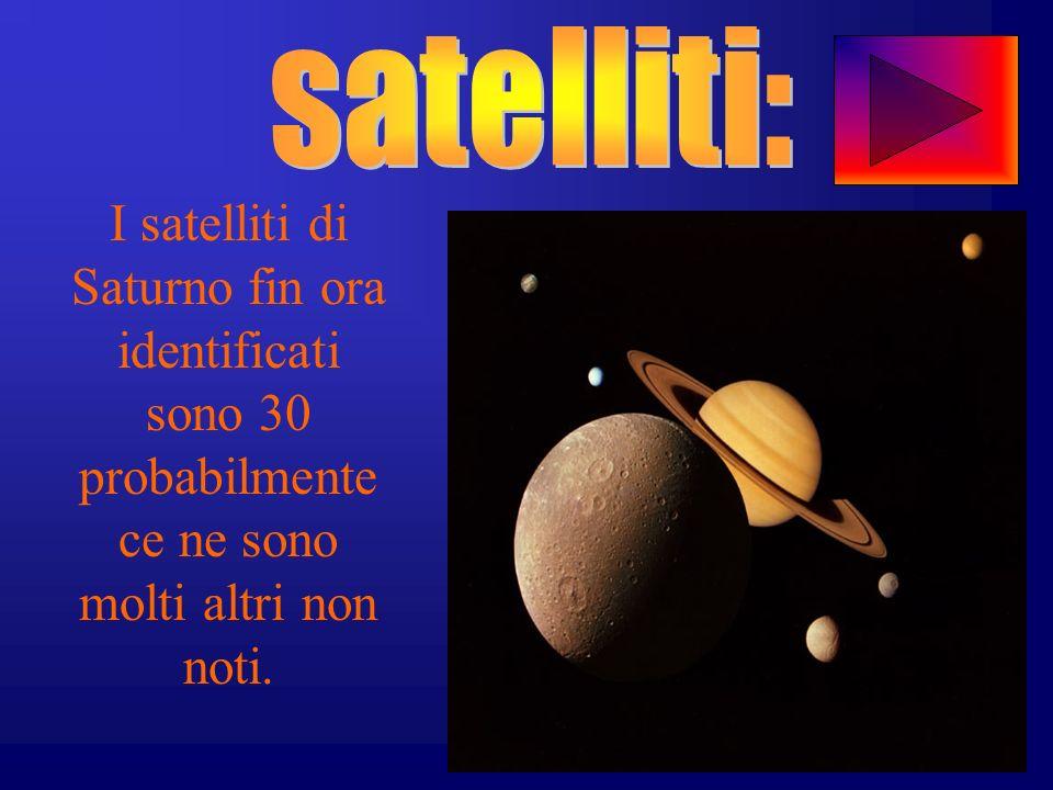 I satelliti di Saturno fin ora identificati sono 30 probabilmente ce ne sono molti altri non noti.