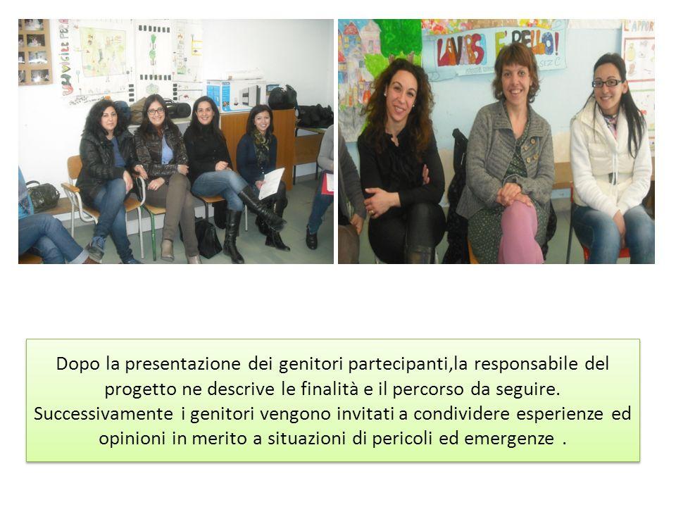 Dopo la presentazione dei genitori partecipanti,la responsabile del progetto ne descrive le finalità e il percorso da seguire. Successivamente i genit