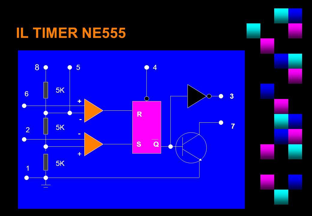 IL TIMER NE555 8 4 6 2 3 7 R SQ - + - + 5K 1 5