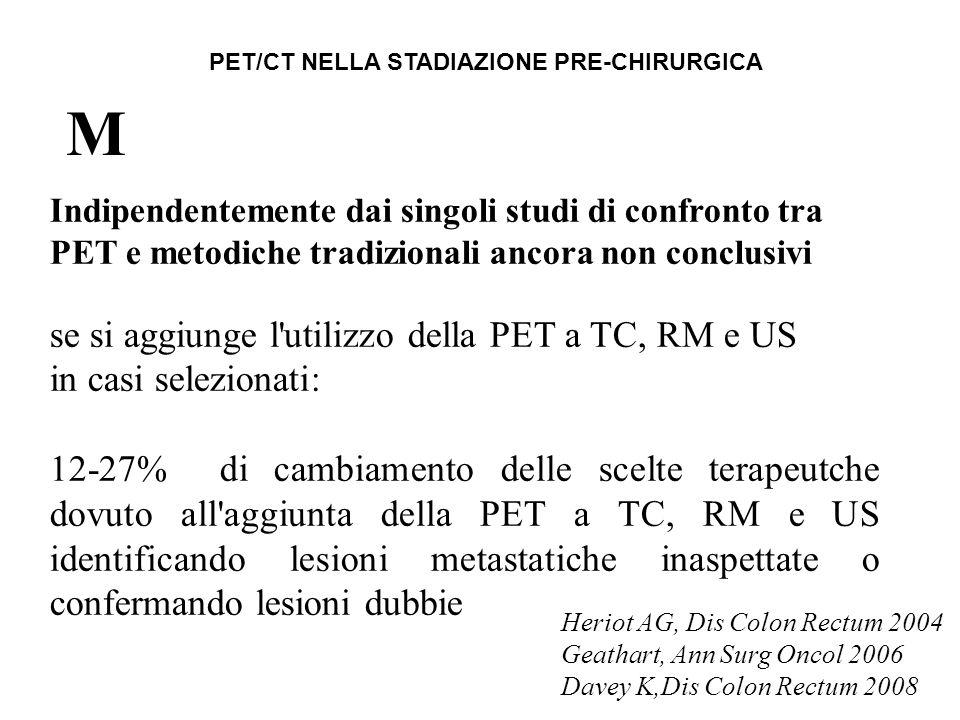 Indipendentemente dai singoli studi di confronto tra PET e metodiche tradizionali ancora non conclusivi se si aggiunge l'utilizzo della PET a TC, RM e