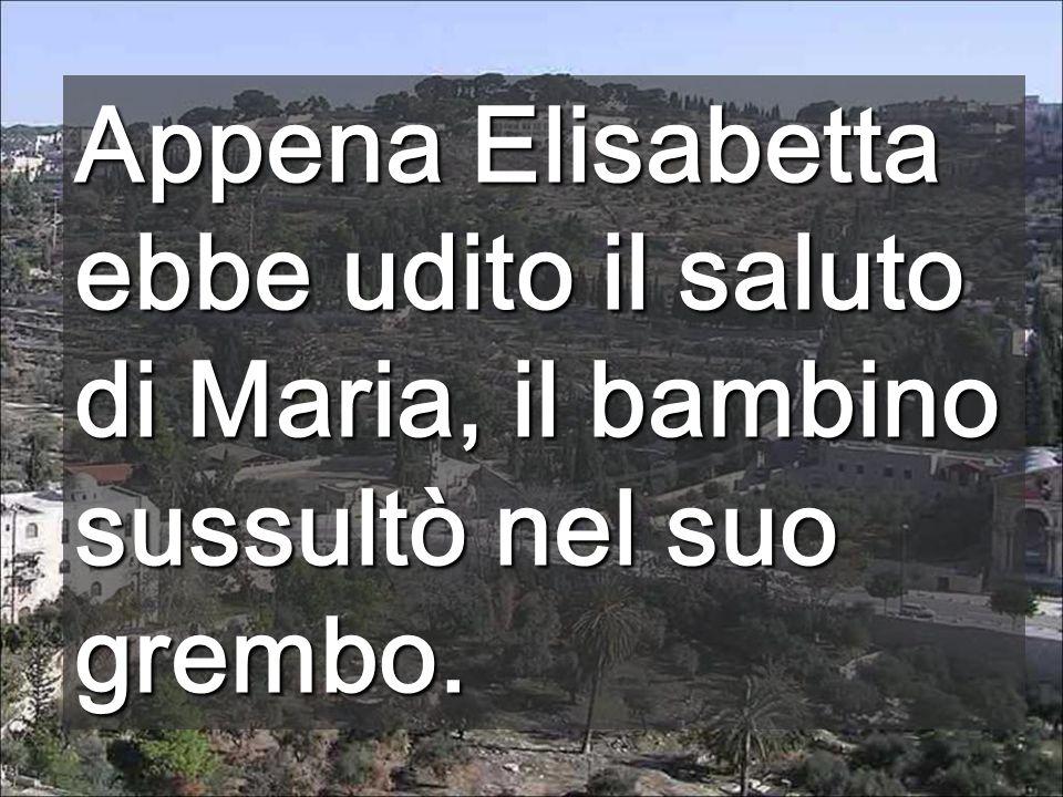 LArca della Alleanza entrò nel Tempio (1 a lettura) Portando Gesù nel suo seno, Maria fa entrare Dio in terra Casa di Elisabetta