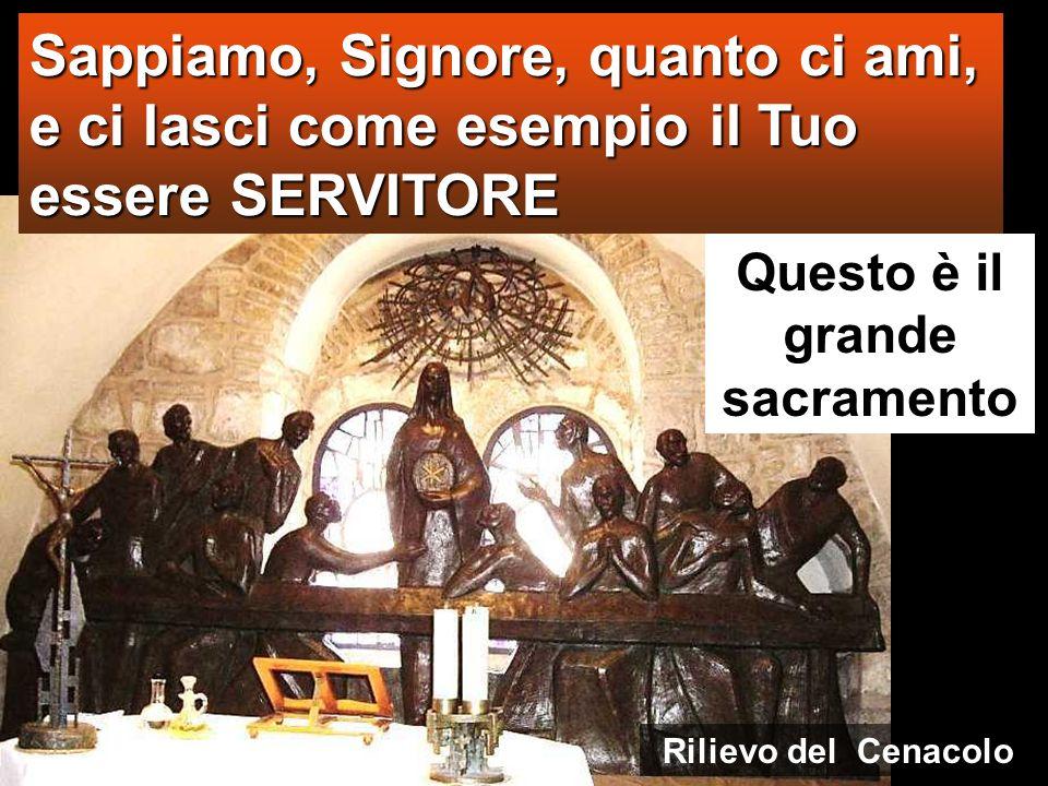 Gesù si fa SERVO Nel vangelo di Giovanni lEucaristia diventa lavanda dei piedi Cenacolo