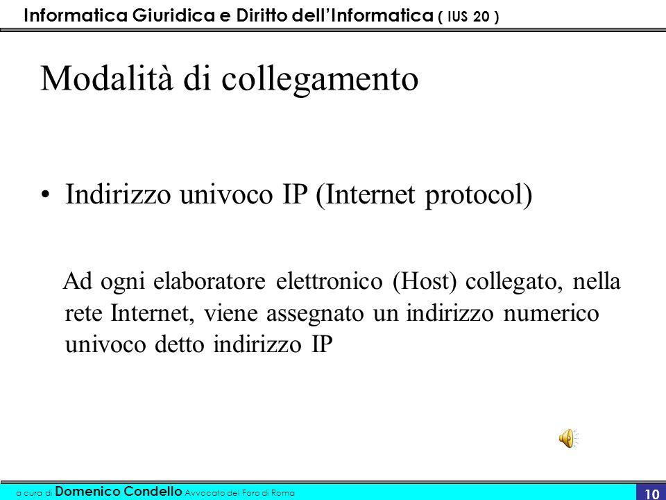 Informatica Giuridica e Diritto dellInformatica ( IUS 20 ) a cura di Domenico Condello Avvocato del Foro di Roma 9 funzionamento Gruppo di computer co