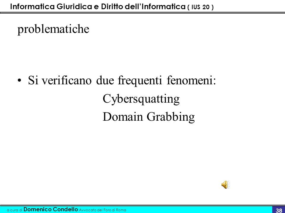 Informatica Giuridica e Diritto dellInformatica ( IUS 20 ) a cura di Domenico Condello Avvocato del Foro di Roma 37.Com La estensione.com è caratteriz