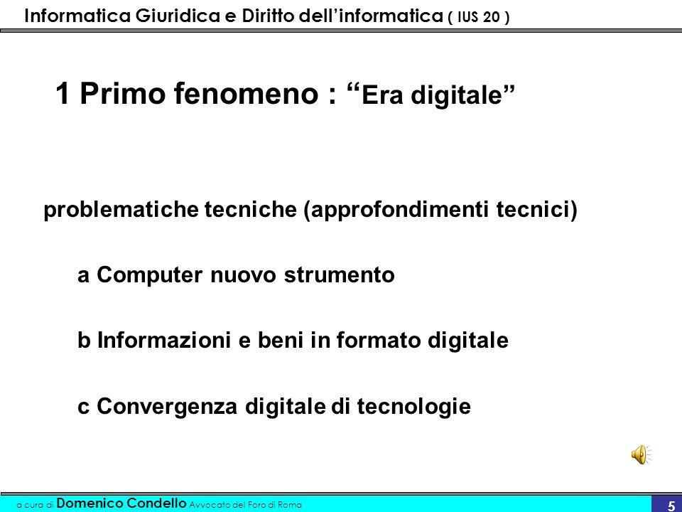 Informatica Giuridica e Diritto dellinformatica ( IUS 20 ) a cura di Domenico Condello Avvocato del Foro di Roma 6..