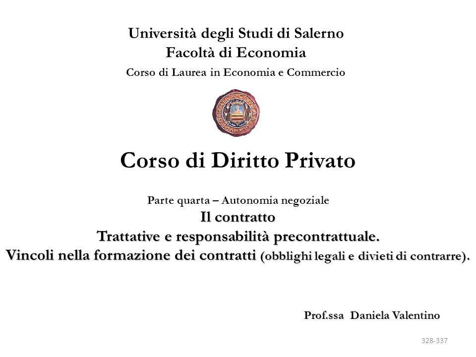 FORMAZIONE DEL CONTRATTO CONCLUSIONE MEDIANTE INIZIO DI ESECUZIONE (art.