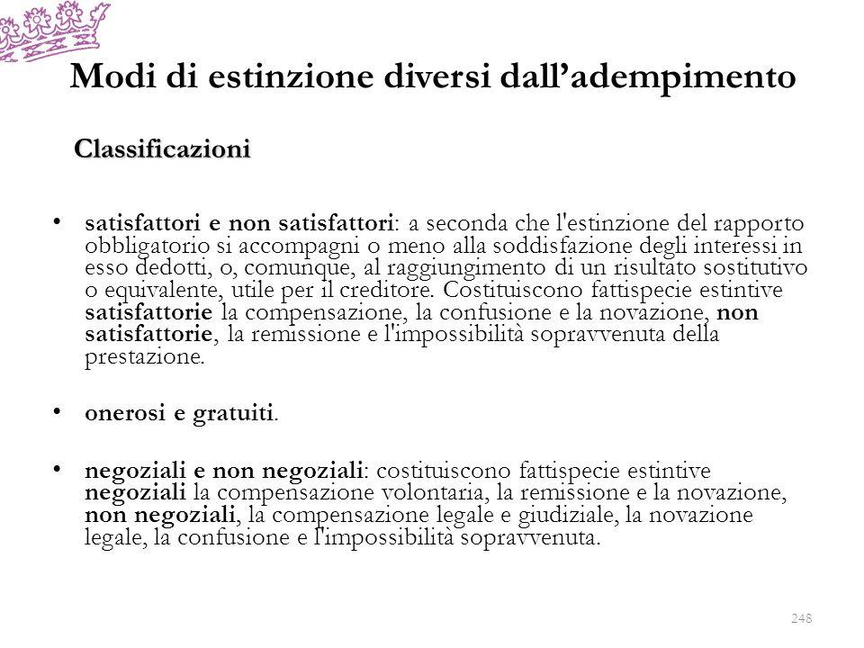 Novazione (artt.1230-1235 c.c.) Il codice civile disciplina la novazione soggettiva (art.