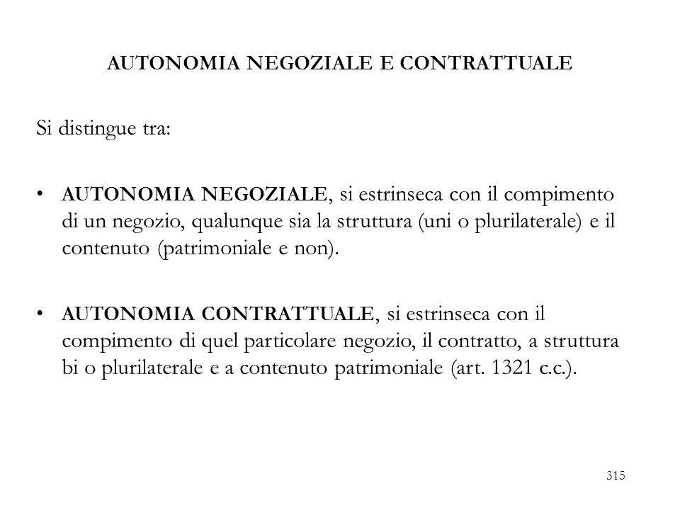 RILEVANZA COSTITUZIONALI DELLAUTONOMIA CONTRATTUALE Per lautonomia contrattuale di impresa: art.