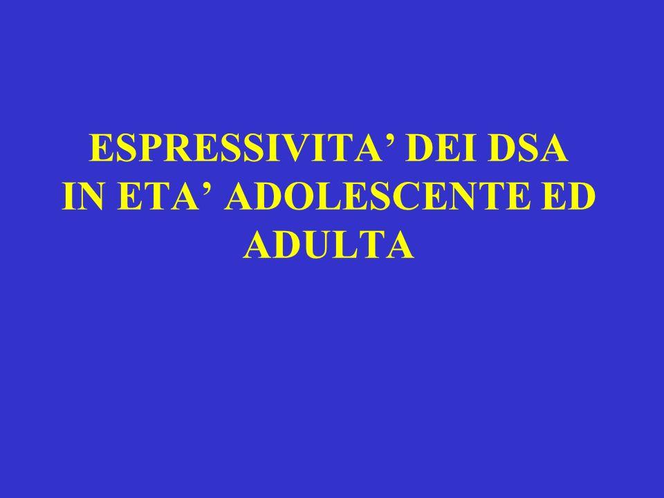 ESPRESSIVITA DEI DSA IN ETA ADOLESCENTE ED ADULTA