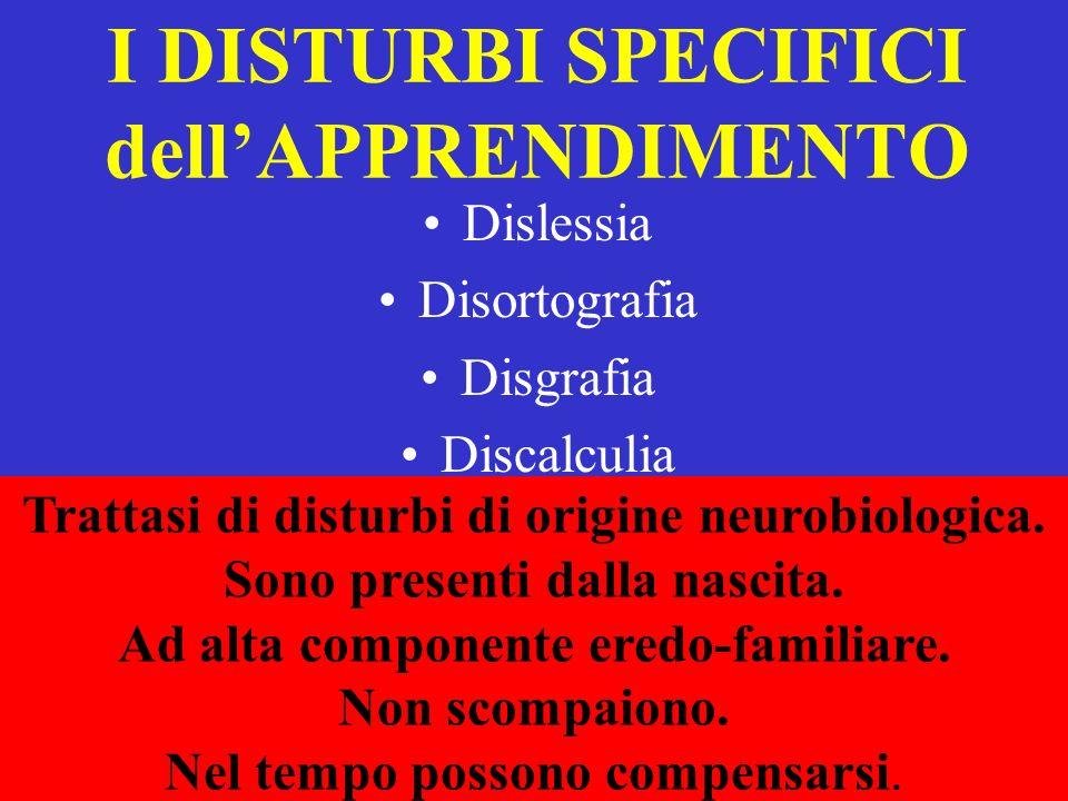 CRITERI PER FARE DIAGNOSI DI DISLESSIA EVOLUTIVA A quali condizioni una difficoltà di lettura può esere diagnosticata come DISLESSIA Intelligenza nella norma Assenza di disturbi neurologici Assenza di disturbi sensoriali Assenza di disturbi psichiatrici importanti RAPIDITA e/o CORRETTEZZA < - 2 d.s.