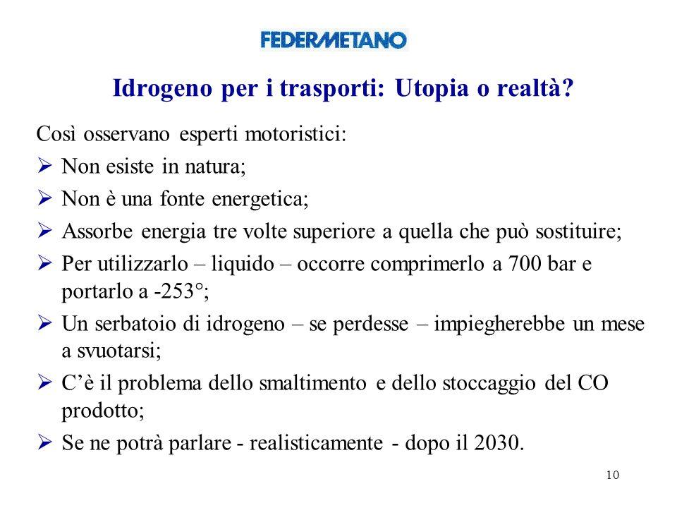 10 Idrogeno per i trasporti: Utopia o realtà.